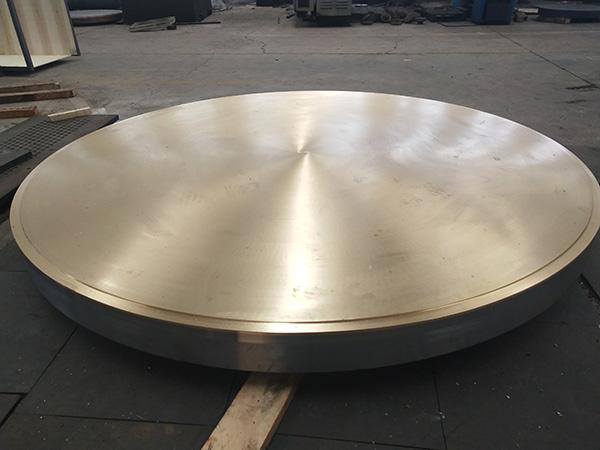 Bimetal clading tube sheet