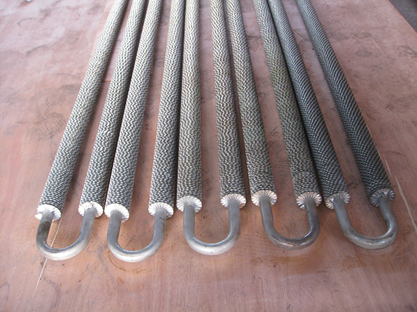 Crimped type fin tube